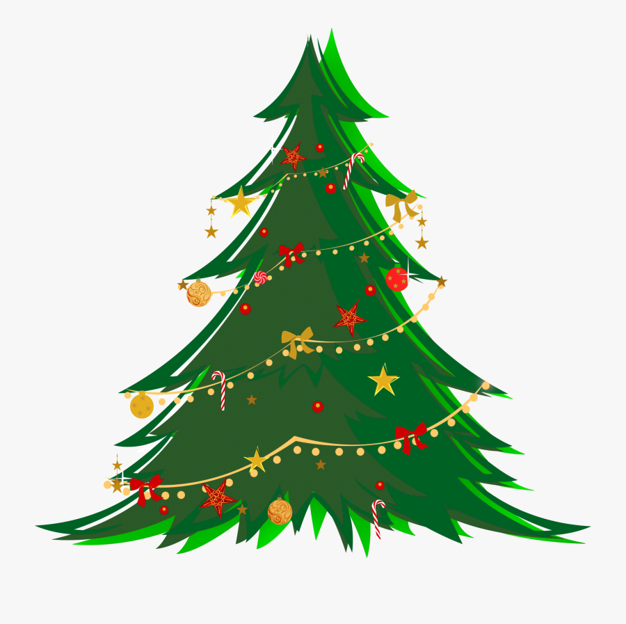 Christmas Tree Ornaments Clipart At Getdrawings - Christmas Tree No Background, Transparent Clipart