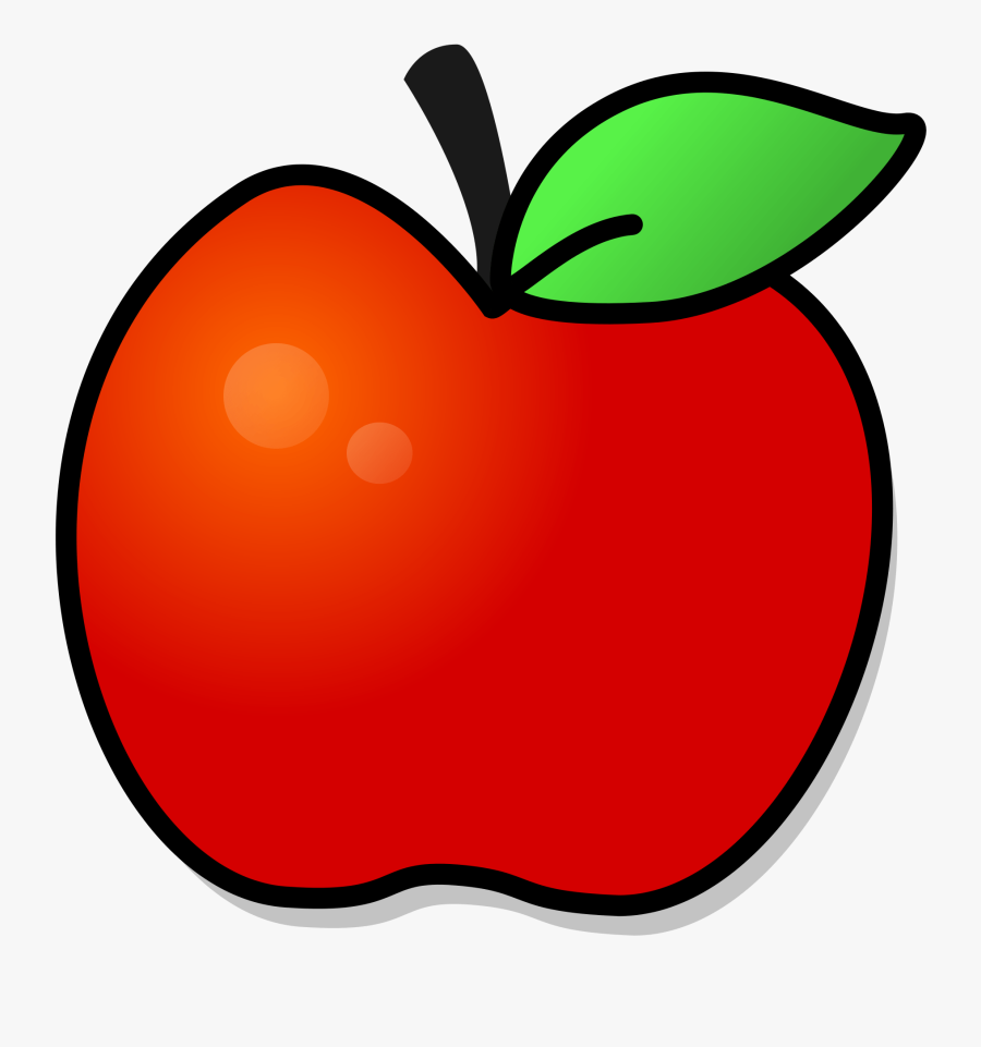 Transparent Apple Clipart - Printable Red Apple Template, Transparent Clipart