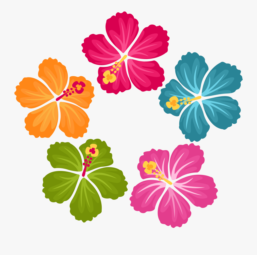 Hibiscus Flowers Flower Clipart, Hibiscus Flowers, - Hibiscus Flower Hawaiian Flowers Clip Art, Transparent Clipart
