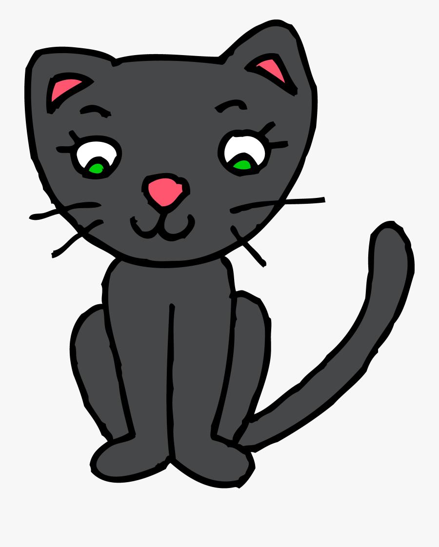 Cat Clipart Free Clipartfest - Kitty Cat Clip Art, Transparent Clipart