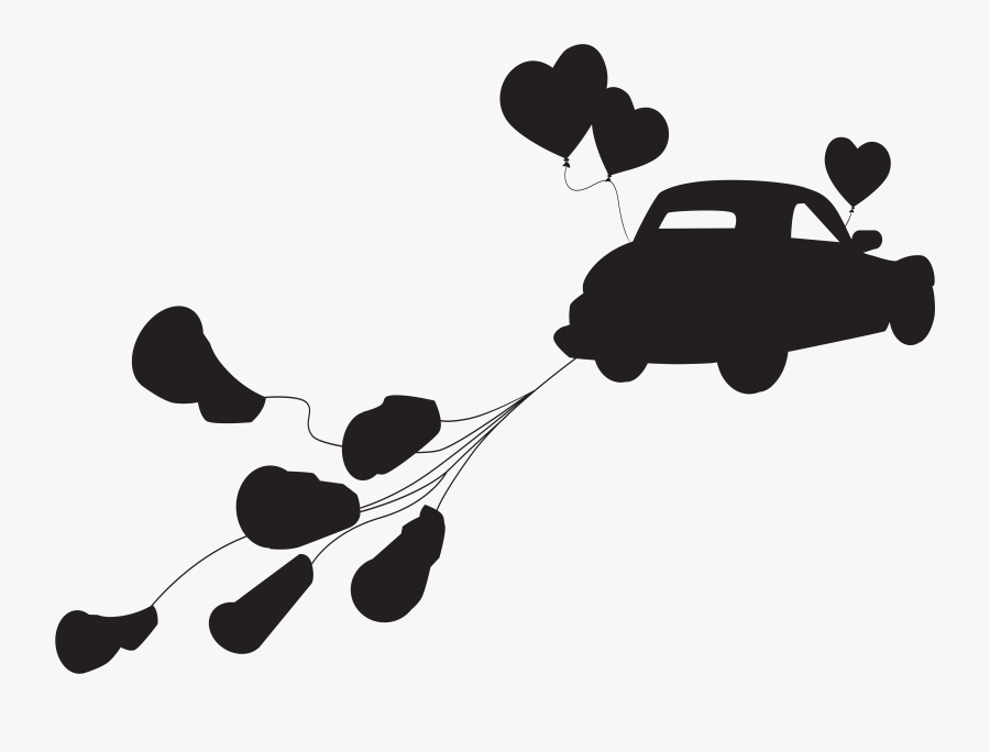 Weddings Free Clipart Getting Married - Just Married Car Png, Transparent Clipart