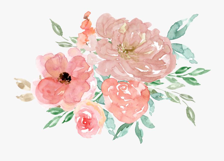 Transparent Watercolour Flower Clipart - Watercolor Flowers Clipart Free, Transparent Clipart