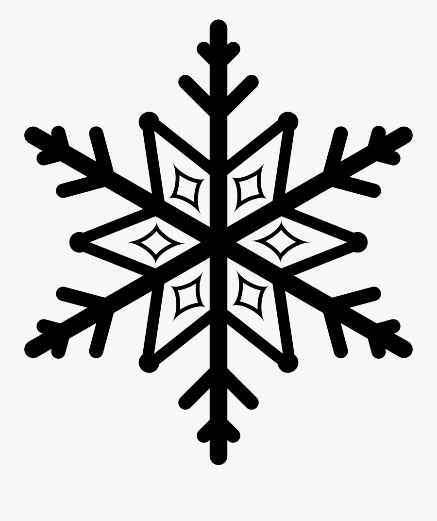 Snowflake Clipart Silhouette Cameo - Snowflake Silhouette, Transparent Clipart