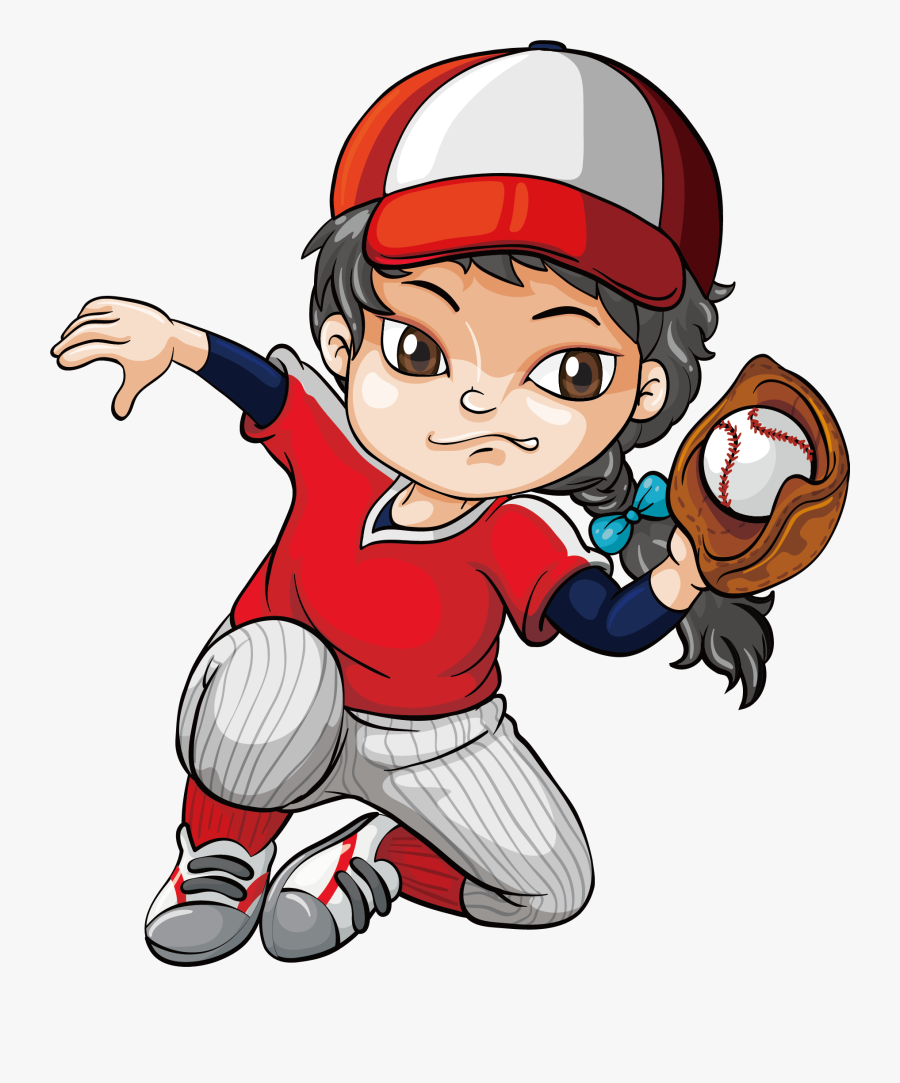 Clip Art Kid Baseball Player Clipart - Importance Of Sports Drawing, Transparent Clipart