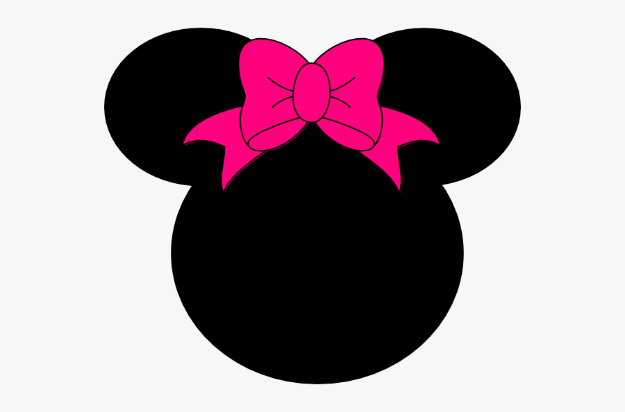 Pink - Minnie - Mouse - Png - Black Minnie Mouse Head, Transparent Clipart
