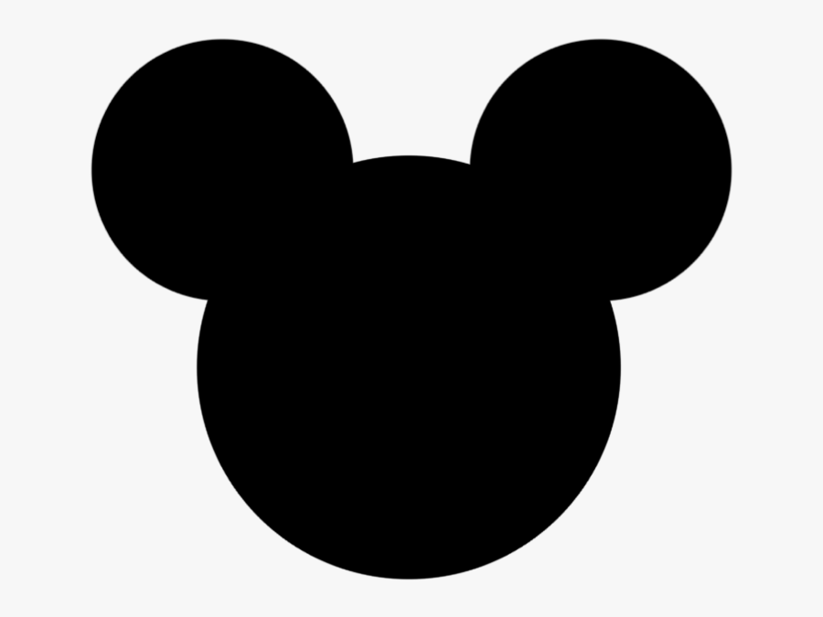 Minnie Mouse Bow Template - Mickey Mouse Head Outline, Transparent Clipart