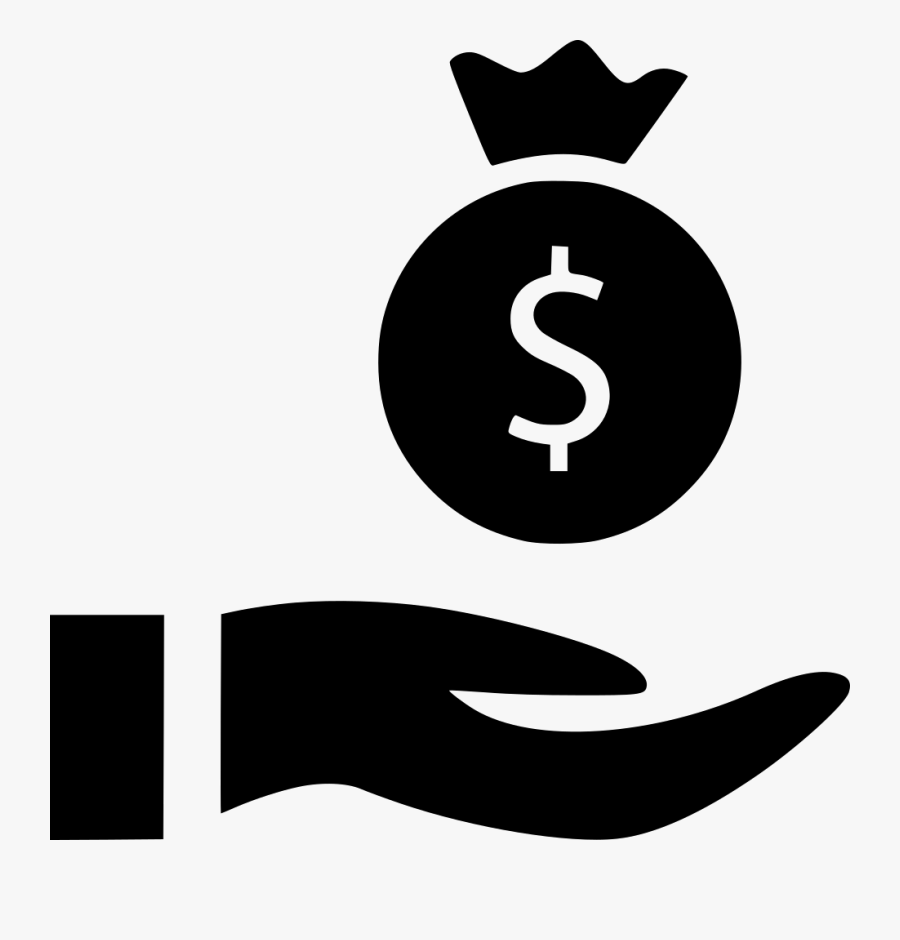 Hands Banking Bag Money Comments - White Money Bag Hand Graphic Png, Transparent Clipart