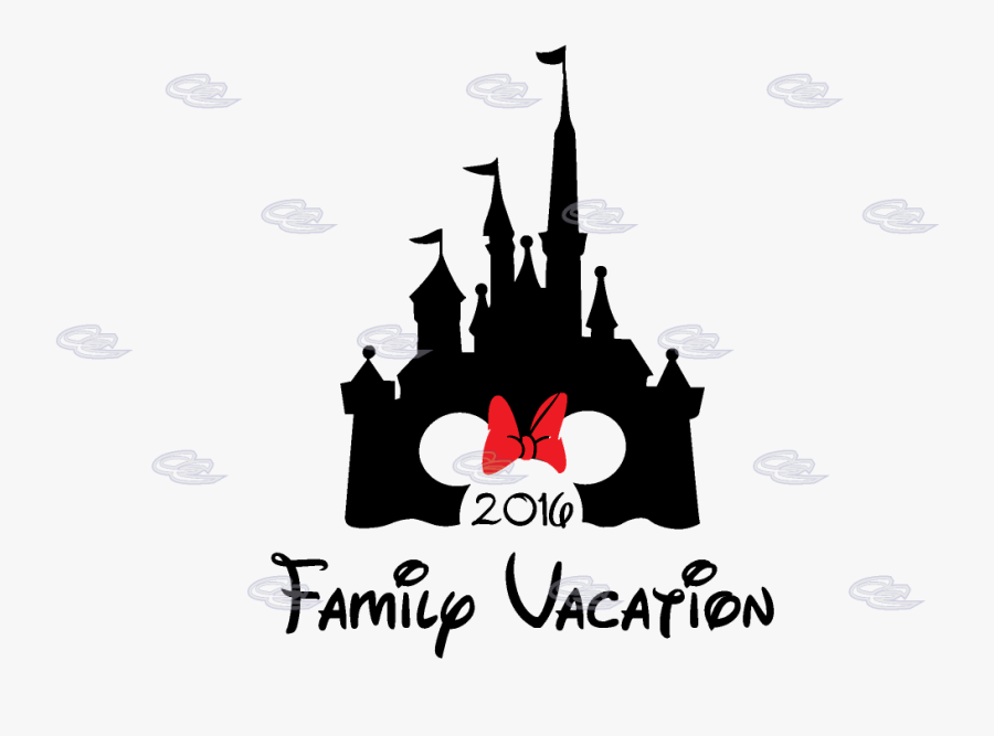 Cinderella Castle Minnie Mouse Head Cute Red Bow Family - Disney Castle With Mickey Head, Transparent Clipart