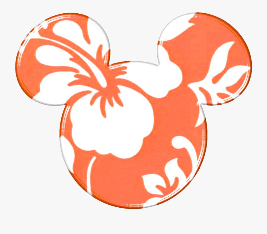 Hawaii Clipart Minnie Mouse - Mickey Mouse Ears Hawaiian, Transparent Clipart