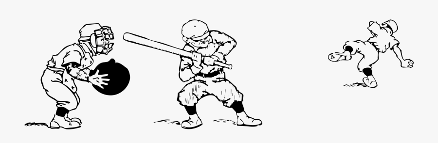 Art,monochrome Photography,human - Baseball Game Clipart Black And White, Transparent Clipart