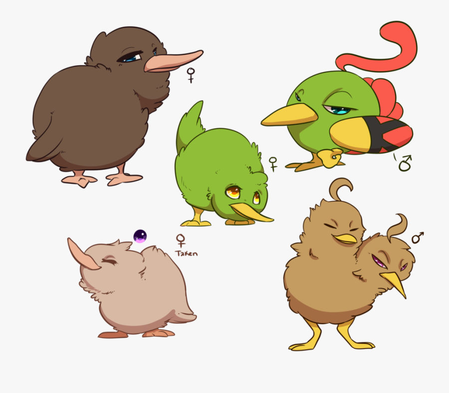 Kiwi Cute Clipart - Kiwi Bird Drawing, Transparent Clipart
