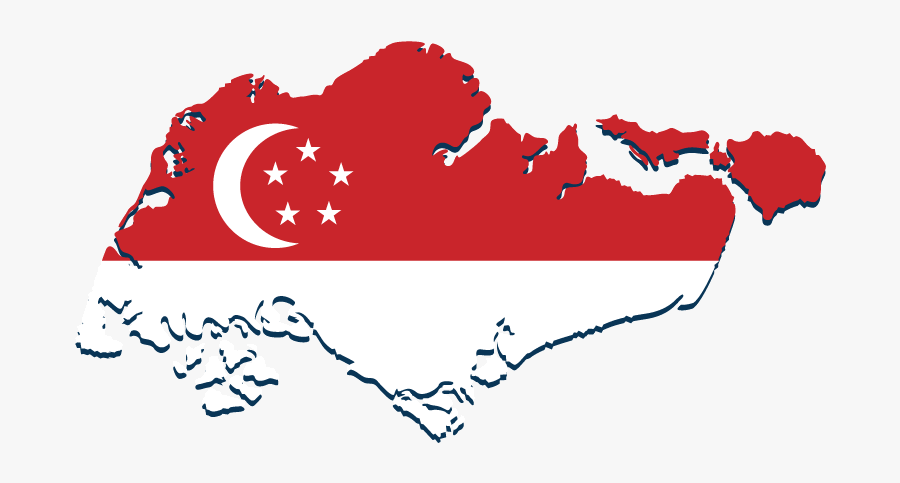 Singapore City Tours - Singapore Map And Flag, Transparent Clipart