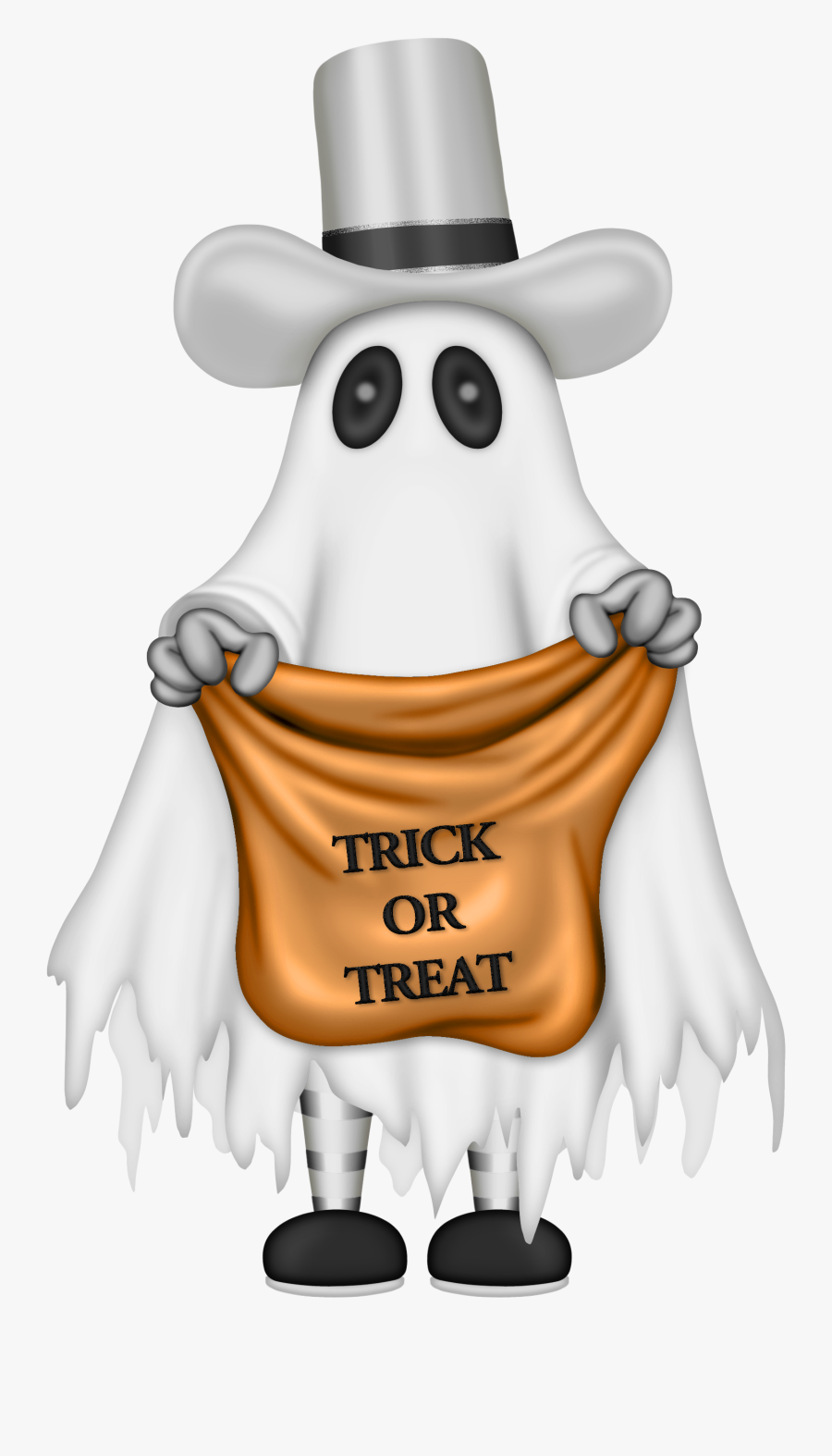Transparent Trick Or Treat Candy Clipart - Halloween Ghost Trick Or Treat, Transparent Clipart