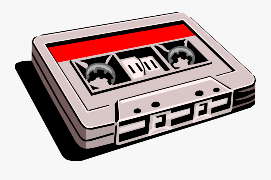 Vector Illustration Of Cassette Tape Audio Cassette - Cassette Tape Royalty Free, Transparent Clipart