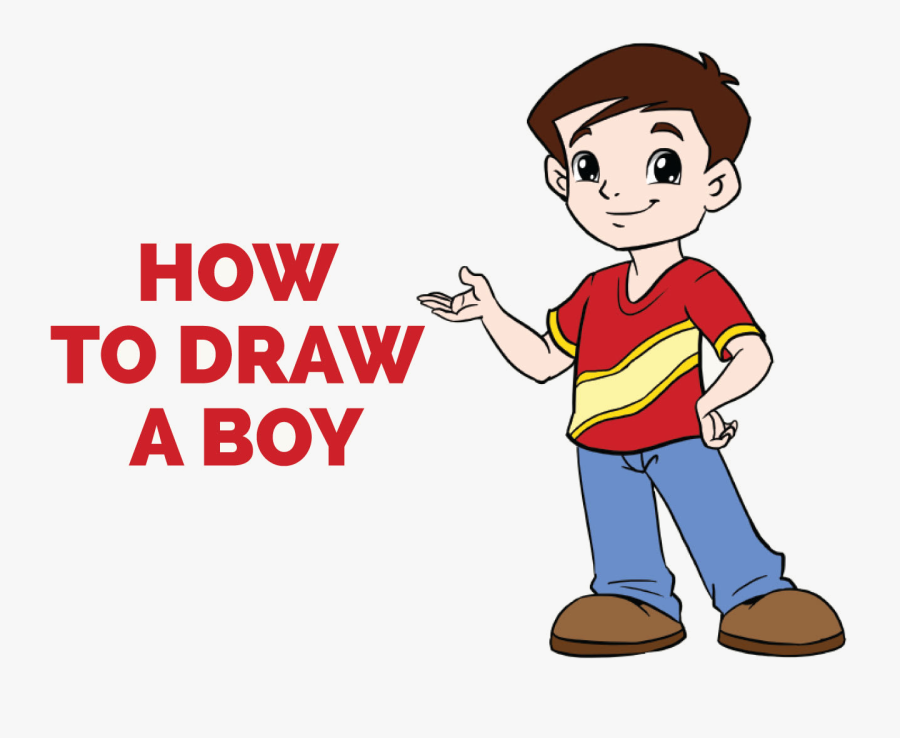 Easy Free Little Boy Clipart Clip Art On Transparent - Boy Drawing Png, Transparent Clipart