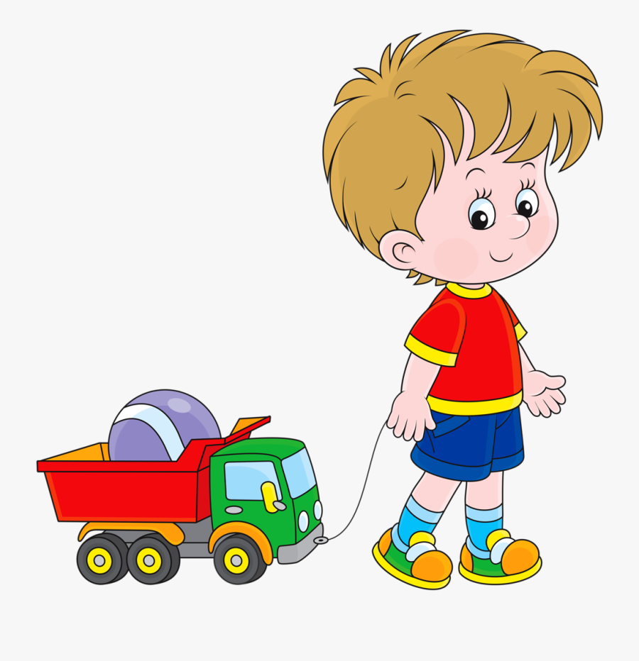 Soloveika Pinterest Cute - Boy Pulling A Toy Car, Transparent Clipart