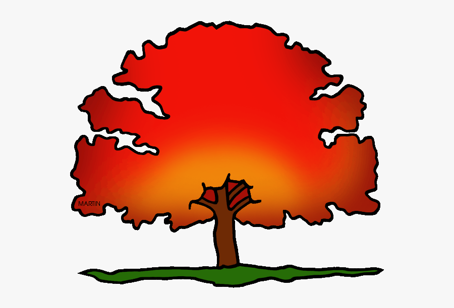 District Tree Of Washington Dc - Red Oak Tree Clip Art, Transparent Clipart
