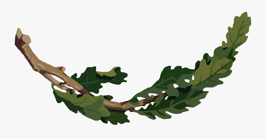 This Free Icons Png Design Of Oak Branch - Oak Tree Branch Clipart, Transparent Clipart