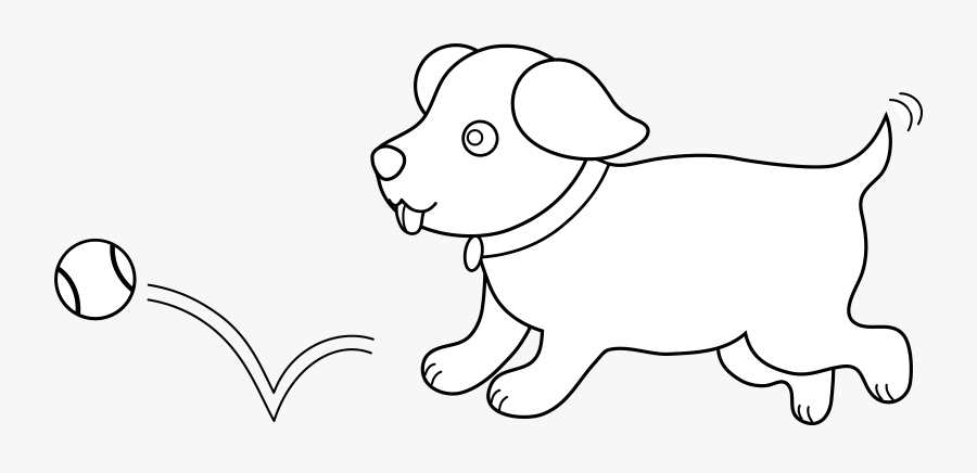 Cute Dog Clipart Black And White - Black And White Puppy Dog Clipart, Transparent Clipart