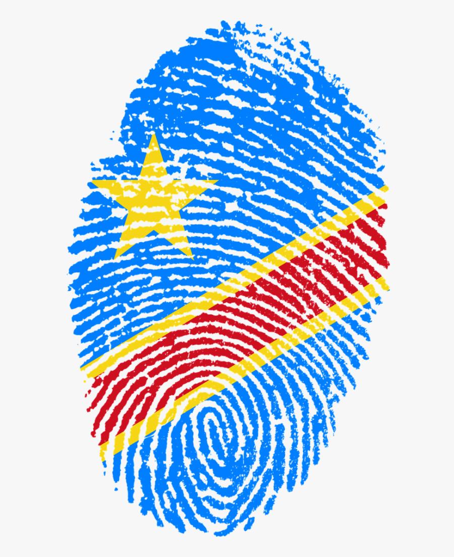 Congo Flag Fingerprint Country Transparent Png Images - Congo Flag Fingerprint, Transparent Clipart