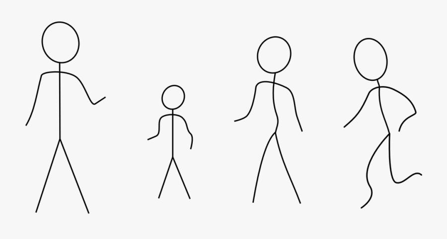 Stick Figures Family People - Stick Figures Clip Art, Transparent Clipart