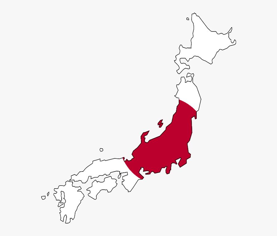Japan Country Map Flag , Transparent Cartoons - Japan Map With Flag Png, Transparent Clipart