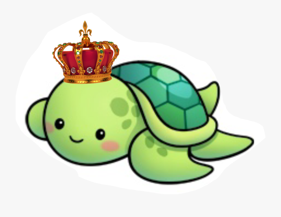 Dad Prince Cute Sea Turtle Cartoon Free Transparent Clipart