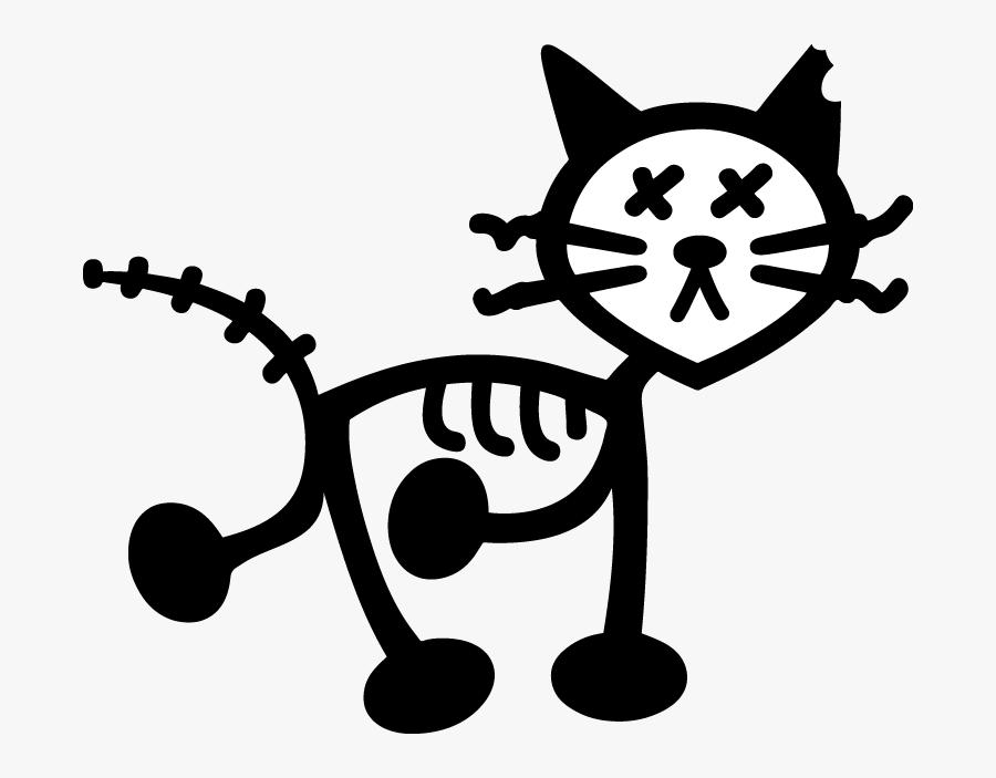 Clipart Family Stick Figure - Cat Stick Figure Transparent, Transparent Clipart