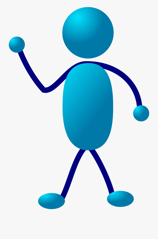 Stick Figure, Stickman, Blue, Lecturing, Lecture - Blue Stick Man, Transparent Clipart