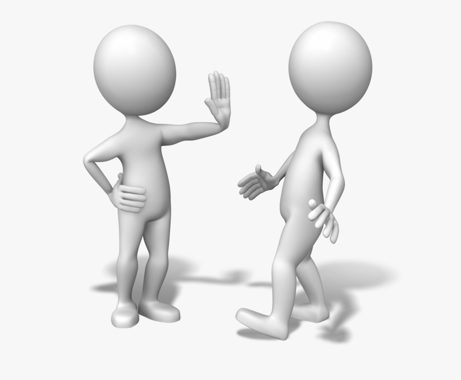 Talking Stick Figures - Stick Man Talking To Each Other Png, Transparent Clipart