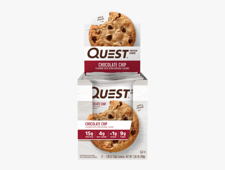Chocolate Chip - Protein Quest Oatmeal Chocolate Chip Cookies, Transparent Clipart