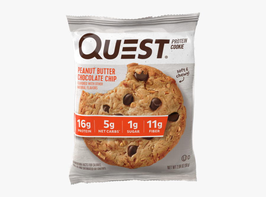 Peanut Butter Chocolate Chip - Quest Chocolate Chip Protein Cookie, Transparent Clipart