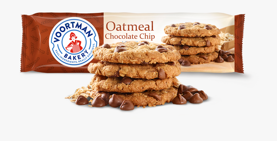 Oatmeal Chocolate Chip - Voortman Oatmeal Chocolate Chip Cookies, Transparent Clipart