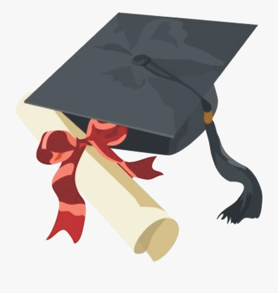 Transparent College Diploma Clipart - Cap And Gown Clip Art, Transparent Clipart