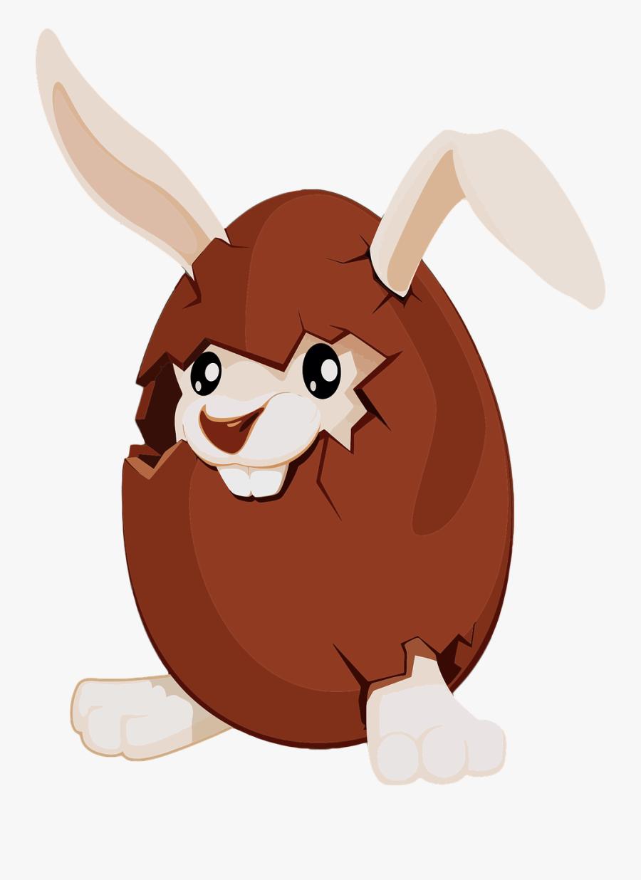 Hot Chocolate Chip Cookie Cartoon Marshmallow Villain - Chocolate Bunny Easter Eggs, Transparent Clipart