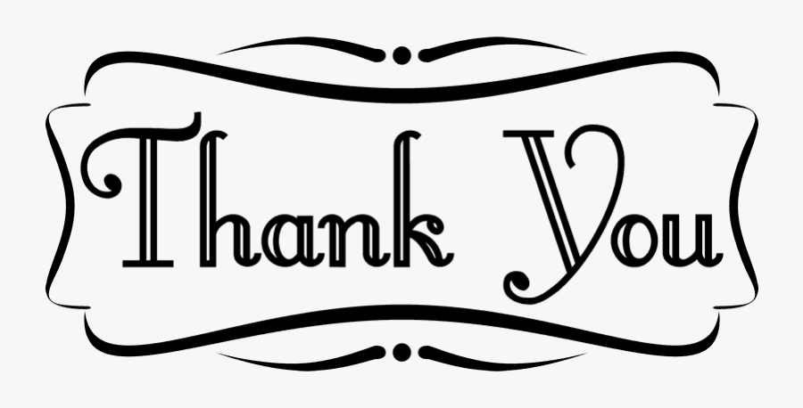 Clip Art Black And White Thank You Clipart Thank You Border Clip