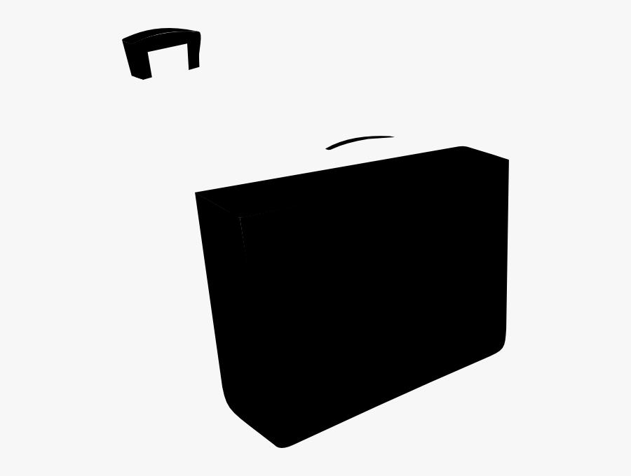 Black Briefcase Svg Clip Arts - Monochrome, Transparent Clipart