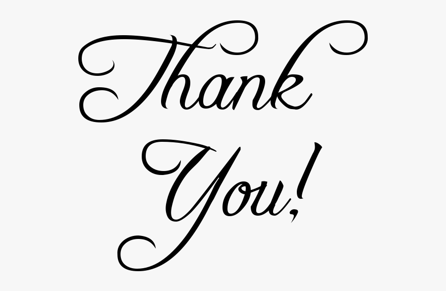 Thank You Clipart Transparent - Thank You In Transparent, Transparent Clipart