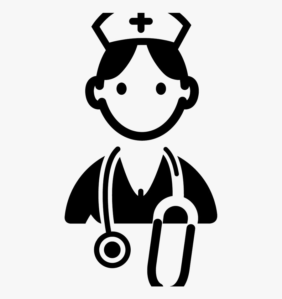 Collection Of Nursing Black And White Transparent Nurse Clipart Png Free Transparent Clipart Clipartkey