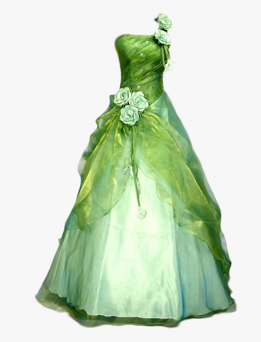 Ball Gown Clipart - Blue And Green Wedding Dresses, Transparent Clipart