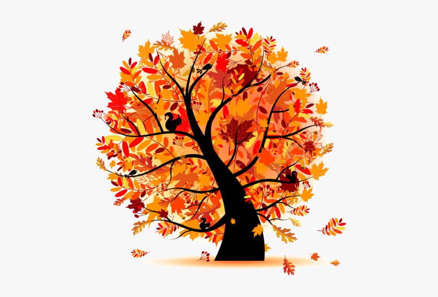 Fall Tree Clipart - Autumn Trees Illustration, Transparent Clipart