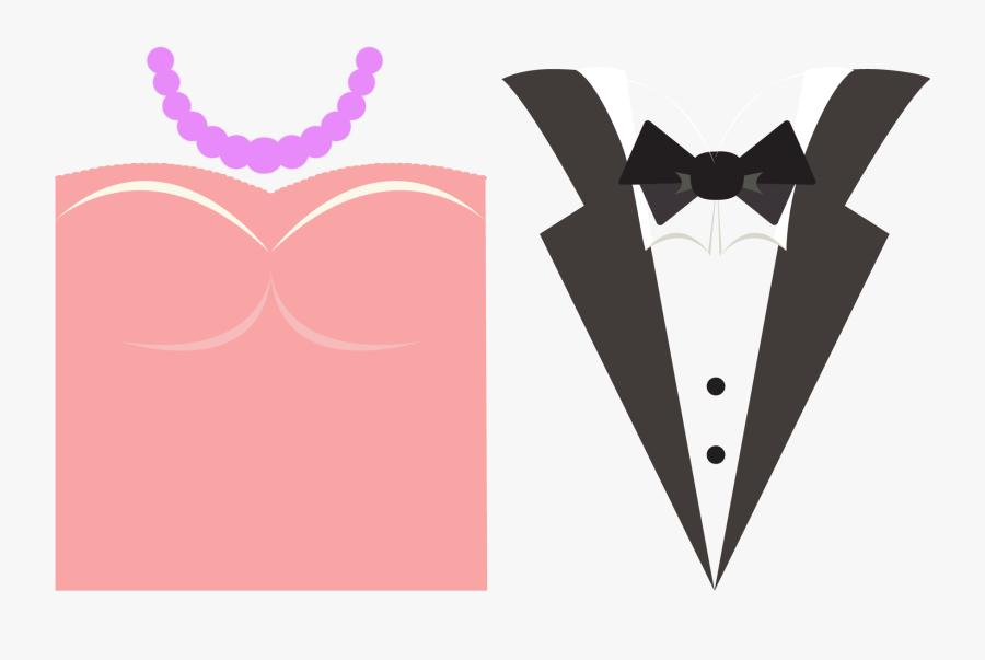 Wedding Invitation Bridegroom Suit Wedding Dress - Wedding Invitation Vector Template, Transparent Clipart