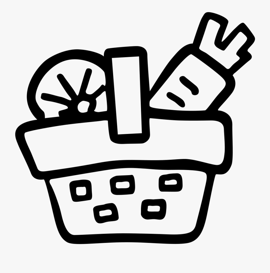 Full Of Raw Vegetables - Vegetables In Basket Icon, Transparent Clipart