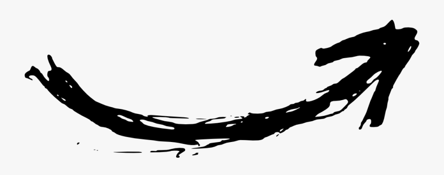 Simple Hand Drawn Arrow Lines, Arrow, Curved Arrow, - Hand Drawn Curved Arrow, Transparent Clipart