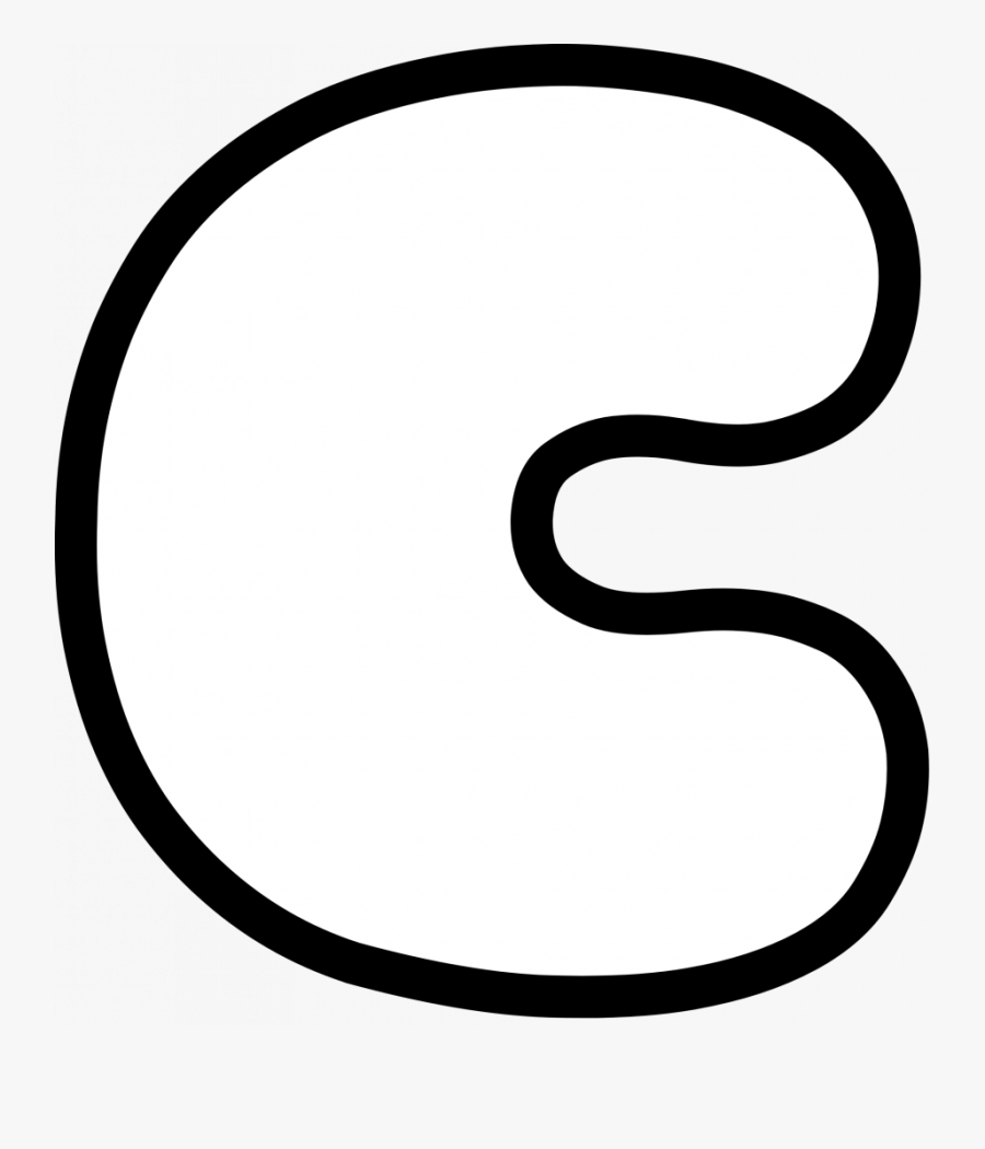 Uppercase Bubble Letter C   Free Transparent Clipart