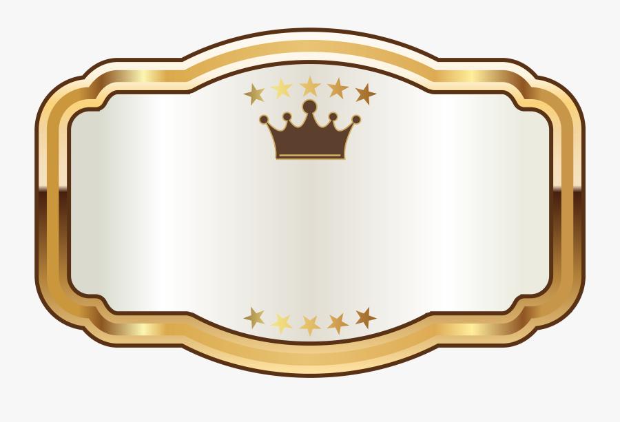 Transparent Gold Glitter Crown Clipart - Banner Name Plate Design Png, Transparent Clipart