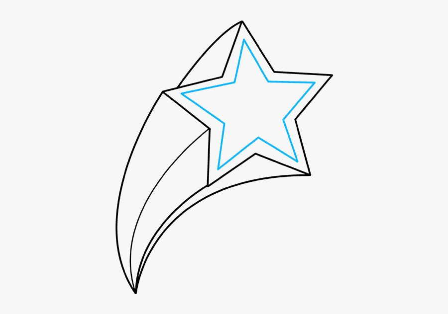 How To Draw Shooting Star - Instructions In How To Draw A Shooting Star, Transparent Clipart