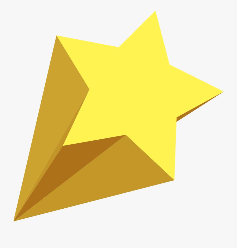 Shooting Stars Clip Art - Transparent Yellow Shooting Star, Transparent Clipart