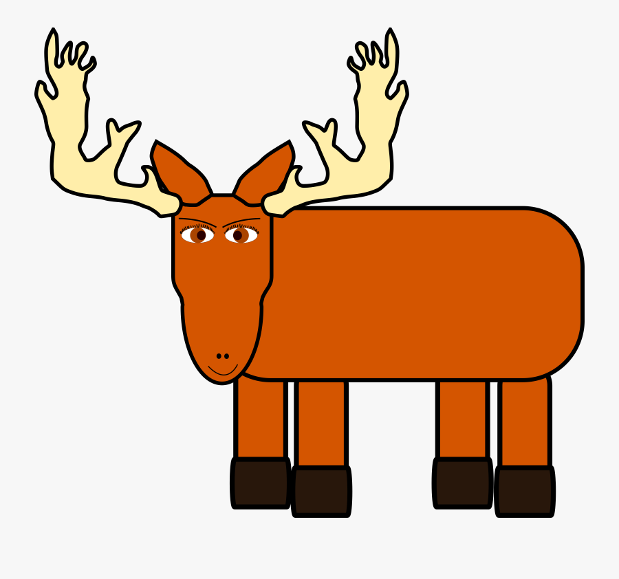 Moose Clipart Cartoon Images Kids - Moose Animated Png Hd, Transparent Clipart