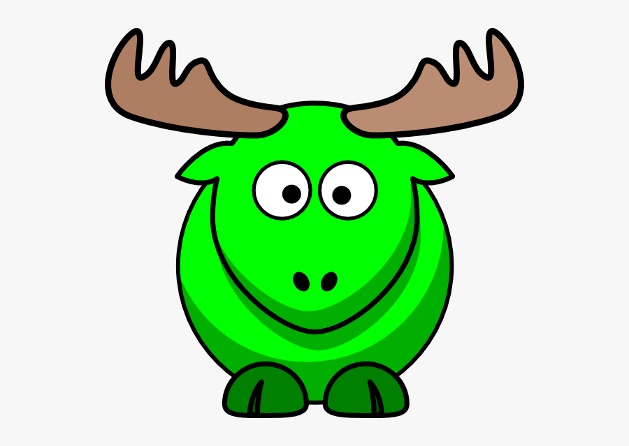 Moose Animated, Transparent Clipart